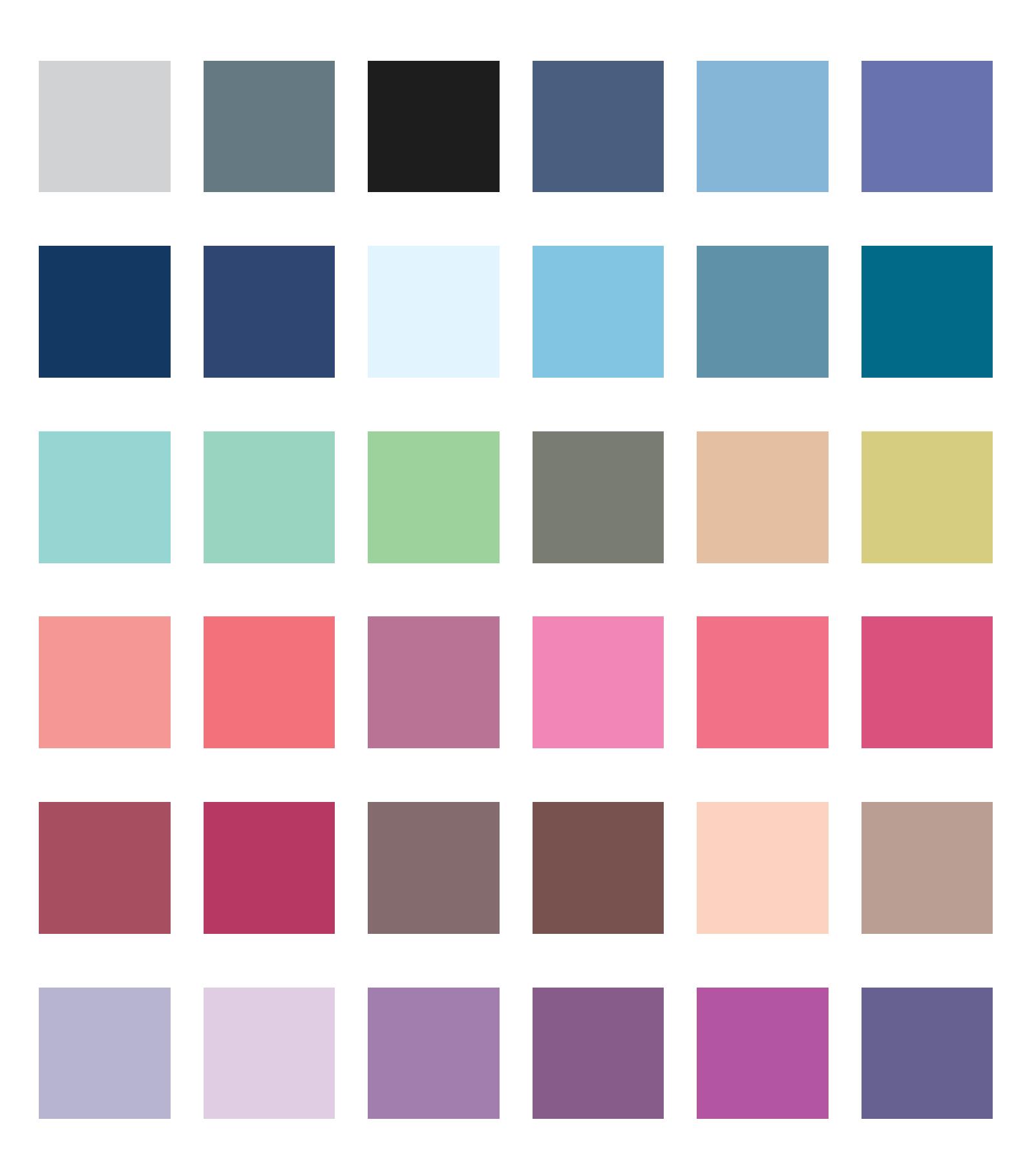 paleta kolorystyczna zgaszonego lata