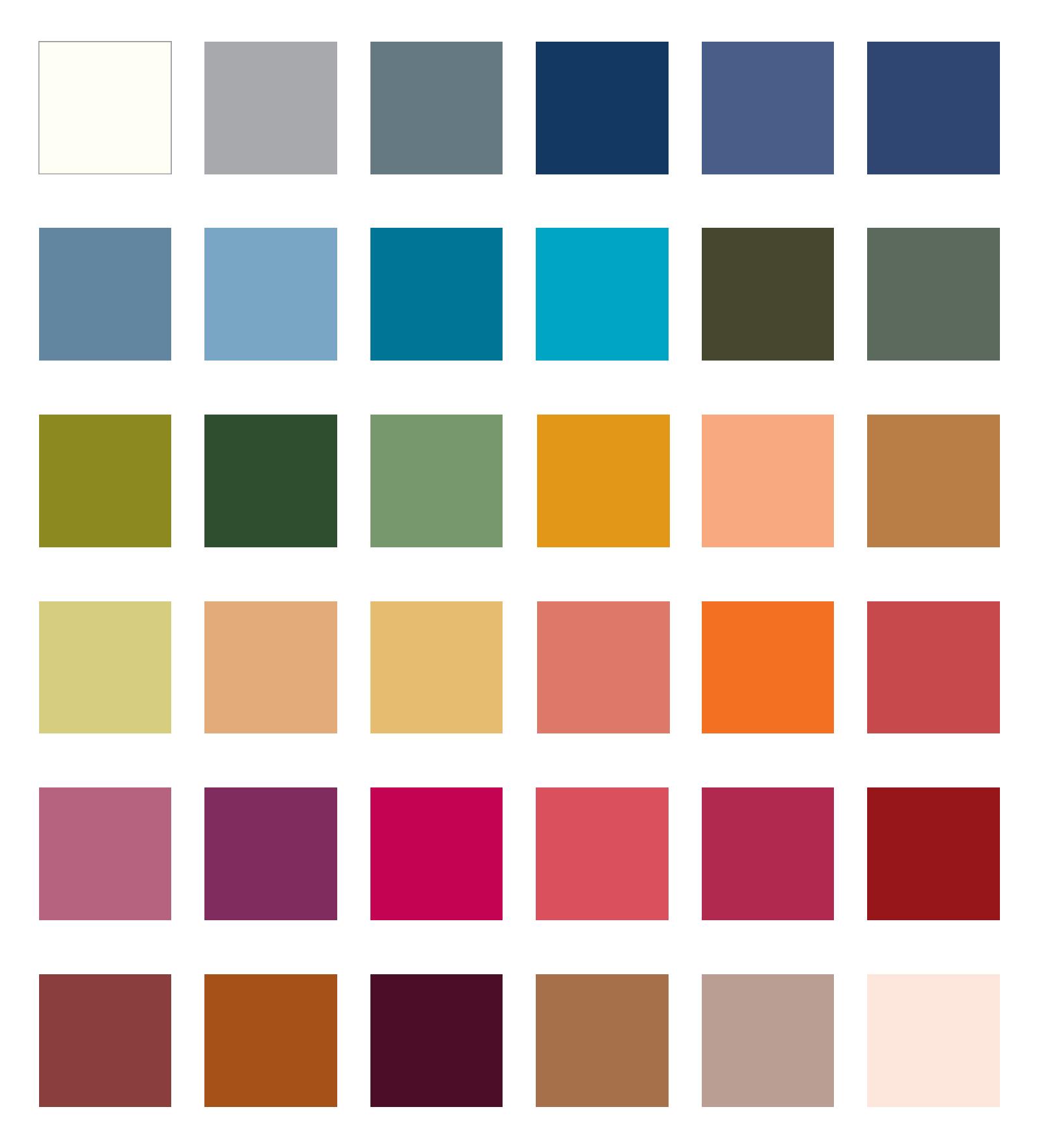 paleta dla ciepłej jesieni