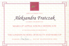 The London School of Beauty and Make-Up Application Certificate