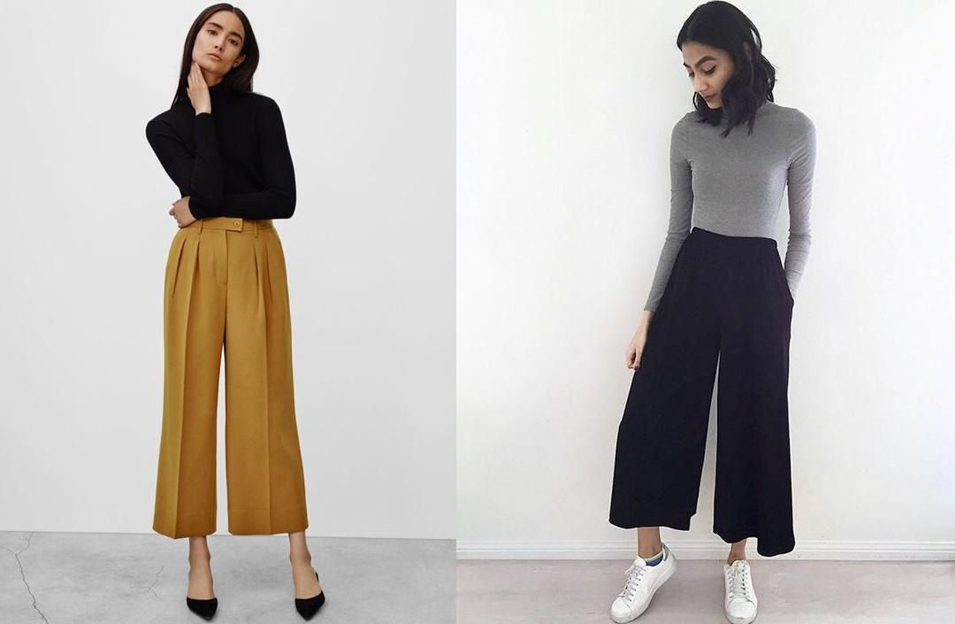 kuloty szerokie spodnie