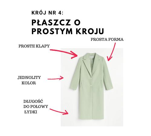 płaszcz o prostym kroju
